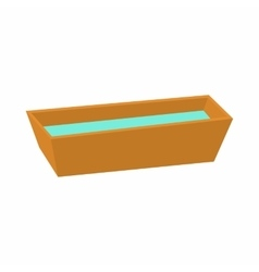 Watering trough reservoir icon cartoon style vector image
