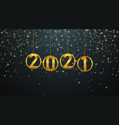 2021 happy new year background vector image
