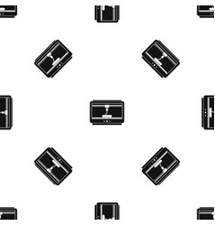 3d printer printing cup pattern seamless black vector image