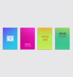 a collection colorful covers lines and shapes vector image