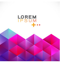 abstract colorful gradient geometric template vector image