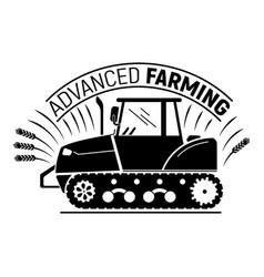 Advanced farming logo simple style vector