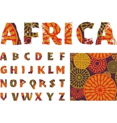 Africa - alphabet and pattern vector image