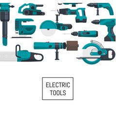 Background with electric construction tools vector