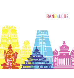 Bangalore skyline pop vector