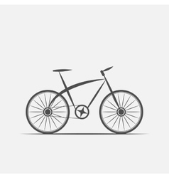 bike in grayscale vector image