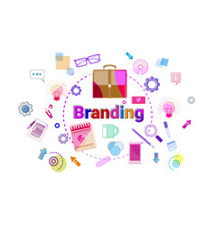 branding creation and products line development vector image