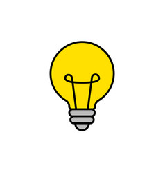 bright idea icon bulb icon brainstorming vector image