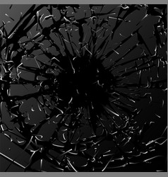 broken glass black explosion vector image