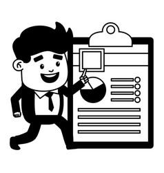 businessman online payment vector image