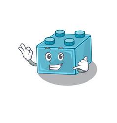 Call me funny lego brick toys cartoon character vector