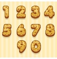 Cartoon biscuits figures set vector