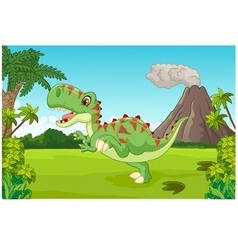 Cartoon cute tyrannosaurus cartoon vector
