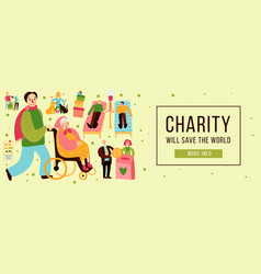 Charity types horizontal vector