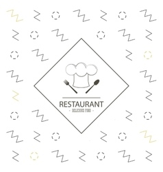 Chefs hat icon Food and Menu design vector image