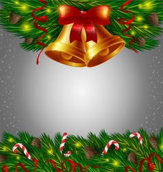 Christmas bells and candy canes vector