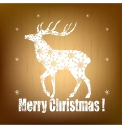 Christmas pattern with white deer vector image