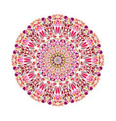 Colorful round abstract circular botanical vector