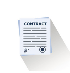 contract business booperation agreement flat vector image