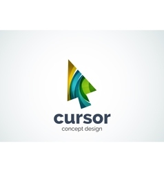 Cursor logo template mouse pointer and arrow vector image