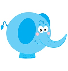 Cute Blue Elephant vector image