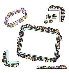 doodle circles frames vector image