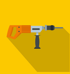 Electric drill perforator icon flat style vector
