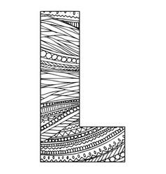 Entangle stylized alphabet - letter l black vector