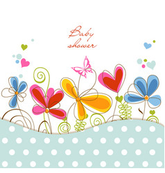 Floral bashower vector