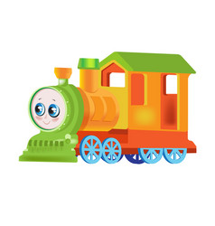 funny multicolored locomotive train vector image