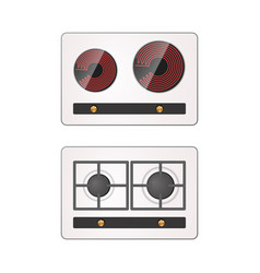 Gas and electric hotplate vector