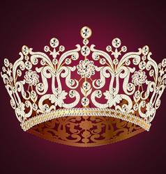 Gem Crown vector image