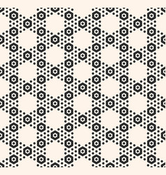 geometric hexagon seamless black pattern vector image