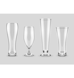 Glasses for beer drinking in vector