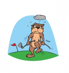 golf gopher vector image