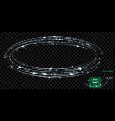 Gray glowing two layered ring vector