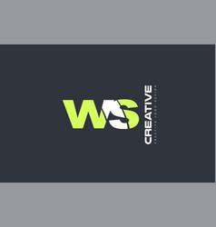 Green letter ws w s combination logo icon company vector