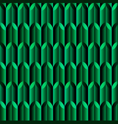 green mosaic geometric seamless pattern with vector image