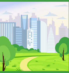 Green park landscape on big vector