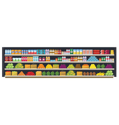 grocery supermarket shelves flat seamless vector image