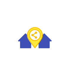home sharing icon on white vector image