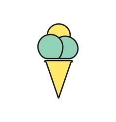 ice-cream icon Eps10 vector image