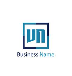 initial letter vn logo template design vector image