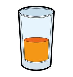 Juice glass icon vector