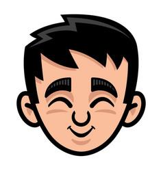 Kid cute face cartoon icon vector