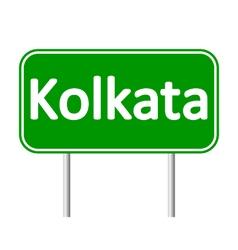 Kolkata road sign vector