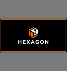 Ks hexagon logo design inspiration vector