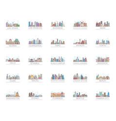 Landmark architecture flat pack vector
