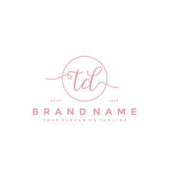 Letter td feminine logo design vector