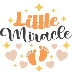 Little miracle on white background vector